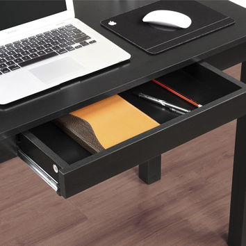 Altra Parsons Study Desk with Drawer Black Finish Altra Furniture