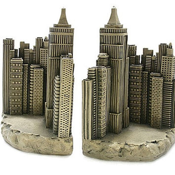 New York City Skyline Architecture Famous Places Bookends 8H - 5089Z