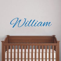 Personalized Name Wall Decal - Baby Name Decal - Nursery Name Decal - Boys Wall Decals - Girls Name Decal - Wall Vinyl Decal Name AN624