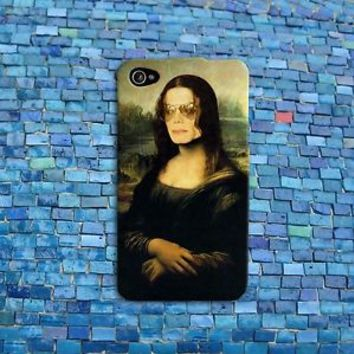 Funny Michael Jackson Phone Case Cute Mona Lisa Case iPhone 4 4s 5 5s 5c 6 iPod