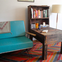 LODGEPOLE Custom Handmade Reclaimed Wood End Table with Bookcase sample
