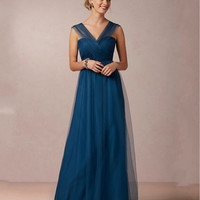 Aure Mario Dark Blue Mother of The Bride Dresses For Wedding Pant Suits Sleeveless Pleats Evening Party Gowns Formal Dress