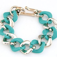 Colored Chain Bracelet - Turquoise