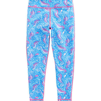 Girls Swirly Seahorse Leggings