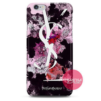 Yves Saint Laurent YSL Floral iPhone Case 3, 4, 5, 6 Cover