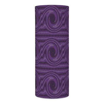 Mod Purple Black Circles Lines Abstract Flameless Candle