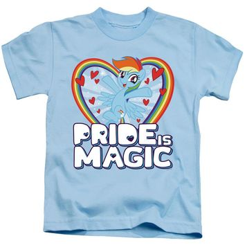 My Little Pony Boys T-Shirt Pride is Magic Light Blue Tee