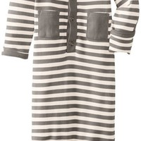L'ovedbaby Unisex-Baby Organic Cotton Gown, Gray/Beige, Newborn (up to 7 lbs.)