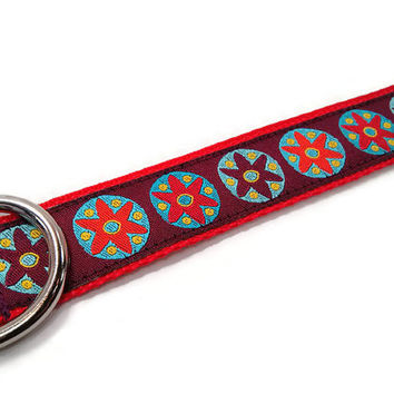 American Heritage Red & Plum Boy or Girl Dog Collar