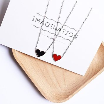 2018 New Hot Trendy Tiny Heart Choker Necklace for Women Pure Silver Small Love Dainty Necklace Bohemian Choker Necklace Jewelry