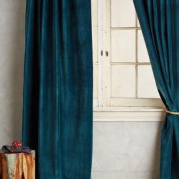 Washed Velvet Curtain by Anthropologie