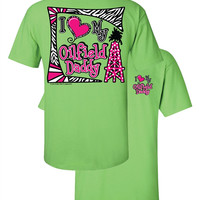 Southern Couture I Love My Oil Field Dad Daddy Oil Girl Daughter Heart Girlie Bright T Shirt
