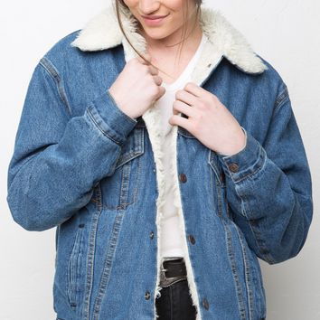 ANRI FUR DENIM JACKET