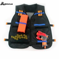 Agbistue Outdoor Adjustable quick-drying Nerf Tactical Vest Kit for N-strike Elite Games Hunting vest Toy Guns Clip