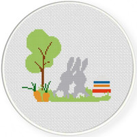 Best Bunnies, Handmade Unframed Cross Stitch- Easter Gifts, Best Friend Gift, Boyfriend Gift, Girlfriend Gift, Cute Gifts For Friend