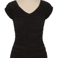 V-Neck Ruched Top