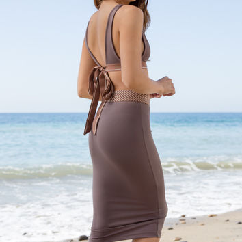 Olympia Activewear - Siren Neo Pencil Skirt | Clay