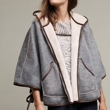 Reversible Hooded Sherpa Cape