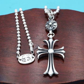 Jewelry Stylish New Arrival Shiny Gift Cross Rack Pendant 925 Silver Accessory Necklace [49348247564]