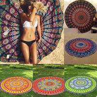 Hot!! Exotic Round Mandala Indian Hippie Boho Wall Hanging Tapestry Beach Picnic Throw Towel Mat Blanket Home Decor