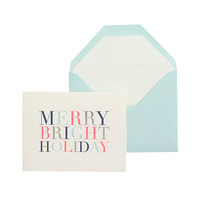 J.Crew Womens Sugar Paper Merry And Bright Holiday Card