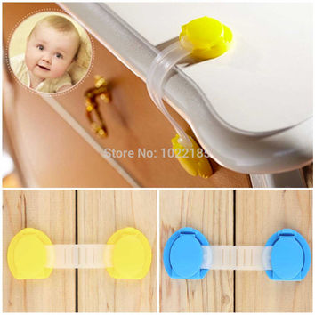 Plastic Safety Lock Set For Children (5 Pc) Cabinet Door/Drawers/Refrigerator/Toilet