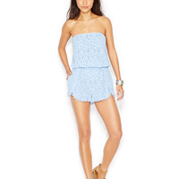Free People Strapless Lace Romper
