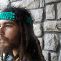 Mens Cotton Headband / Hippie Hair Accessories / Boho