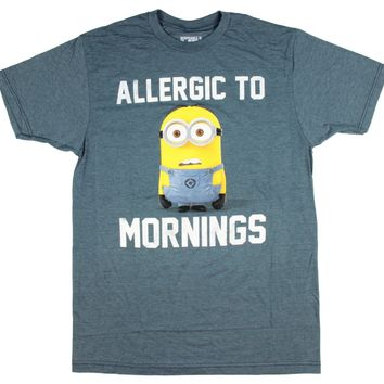 "Despicable Me Men's Minions ""Allergic To Mornings"" T-Shirt"