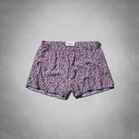 drapey printed shorts
