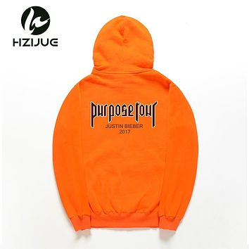 Purpose Tour Sweatshirt Women Men Justin Bieber World Tour Man Hoodie   Street Pull Hip Hop Hoodie