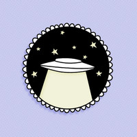 Glow in the dark UFO brooch