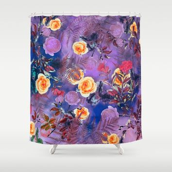 flowers purple Shower Curtain by jbjart