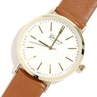 Point in Time Gold and Tan Watch