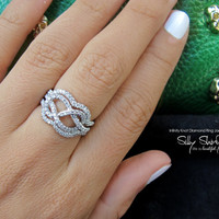 Infinity Knot Diamond Ring - The Original 14K Gold With Jacket Rings