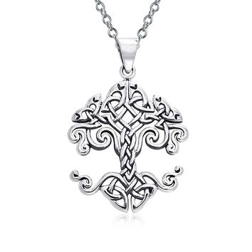 Family Tree Of Life Pendant Celtic Knot Tree Necklace Sterling Silver