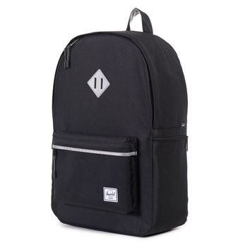 Herschel Supply Co.: Heritage Backpack Plus - Black / 3M Rubber