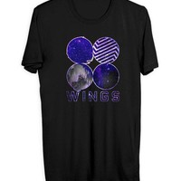 VONEVF3 BTS Wings Cover Galaxy Mens T Shirt
