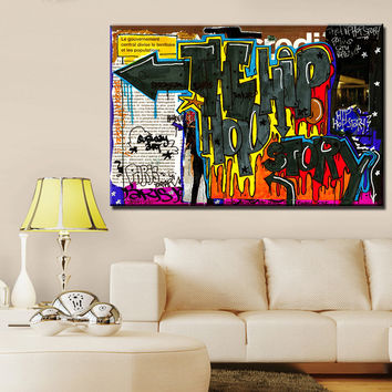 Free Shipping For Graffiti Art Oil Painting Print On Canvas Modern Home Decoration Wall Art Panel No Frame Yw-graffiti- (7)