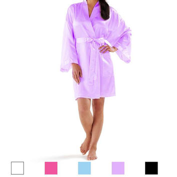 Short Satin Robes for Women