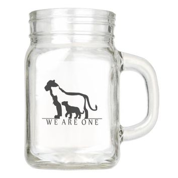 Lion Family Mason Jar