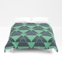 Triangle pattern Duvet Cover by Berwies