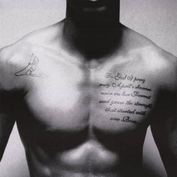 Trey Songz Tattoo Portrait Poster 24x36