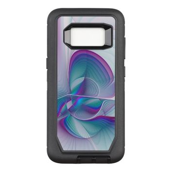 Colorful Modern Pink Blue Turquoise Fractal Art OtterBox Defender Samsung Galaxy S8 Case