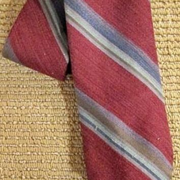 Vintage 1980s Preppy Sensation + Stripe Tie