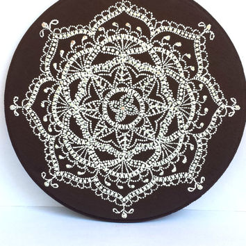 Mehendi plaque Mehendi design Decorative plaque Point-to-point