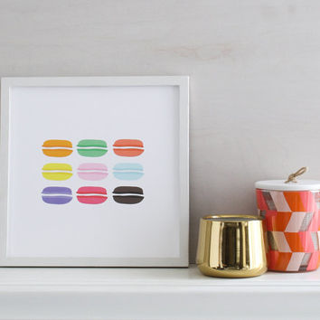 Paris Art Print - Macarons. Wall Art. Home Decor