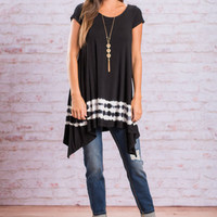 Dying To Meet You Tunic, Black