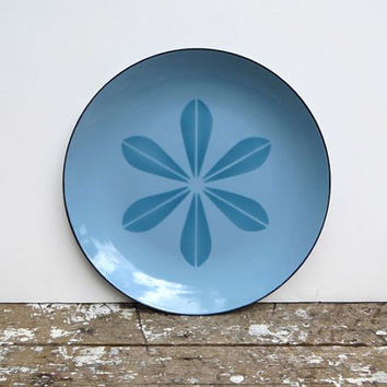 Blue Lotus Cathrineholm Enamel Plate Mid Century Modern Danish Modern Decor