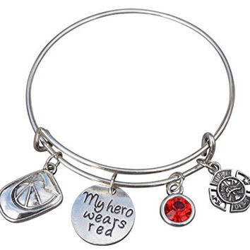 Firefighter Wife Bangle Bracelet